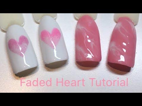 Easy Gel Polish Ombre Heart & Marble Nail Art Tutorial