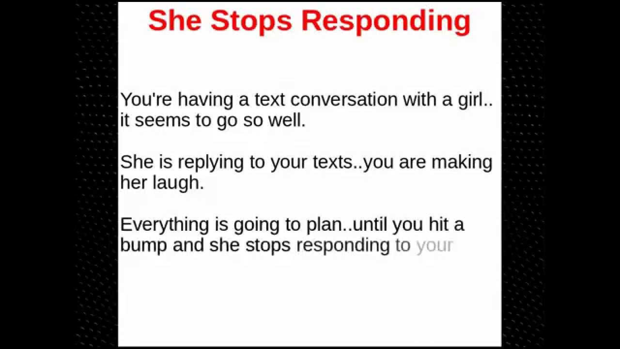 what to do if girl doesn t text back