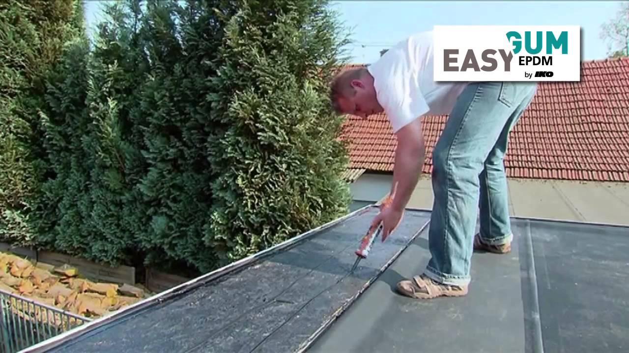 Easygum Epdm - Die Flachdachplane In Einem Stück - Youtube