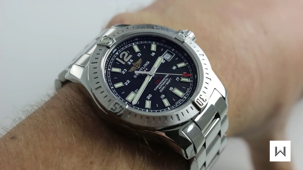 c171dc2f810 Breitling Colt Automatic Ref. A1738011/B784 Watch Review - YouTube