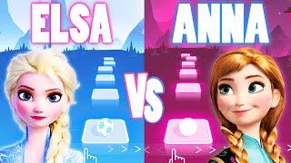 Elsa Show Yourself VS Anna Love Is An Open Door Frozen - Tiles Hop EDM Rush