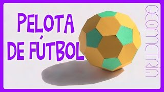 Como hacer un balón de futbol, paso a paso._How to make a soccer ball