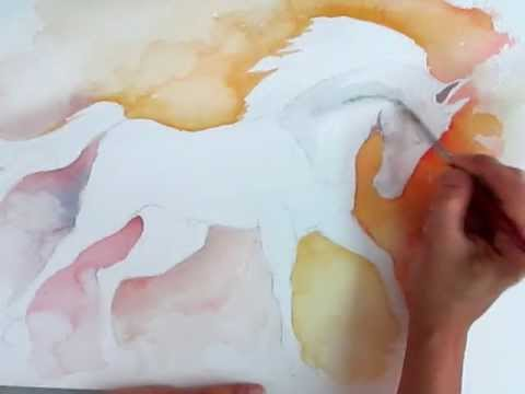 How To Paint A Horse With Watercolor Youtube