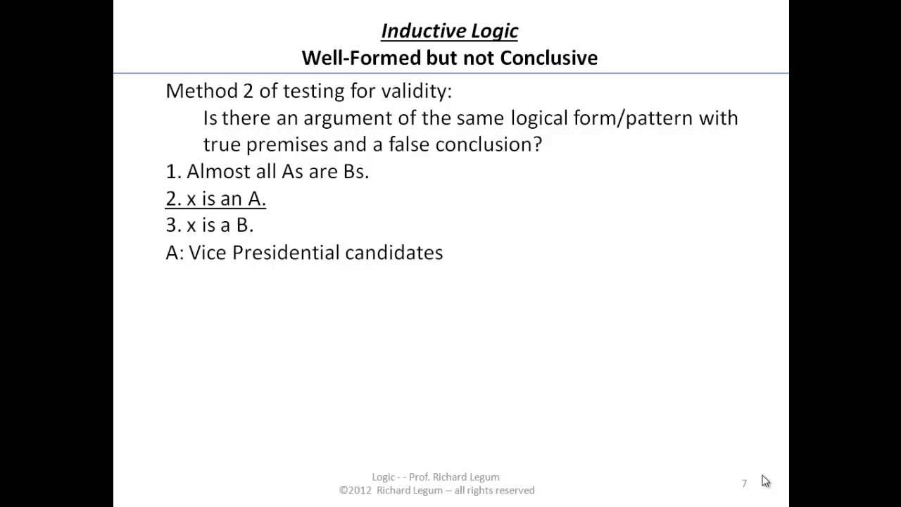 what is a cogent inductive argument