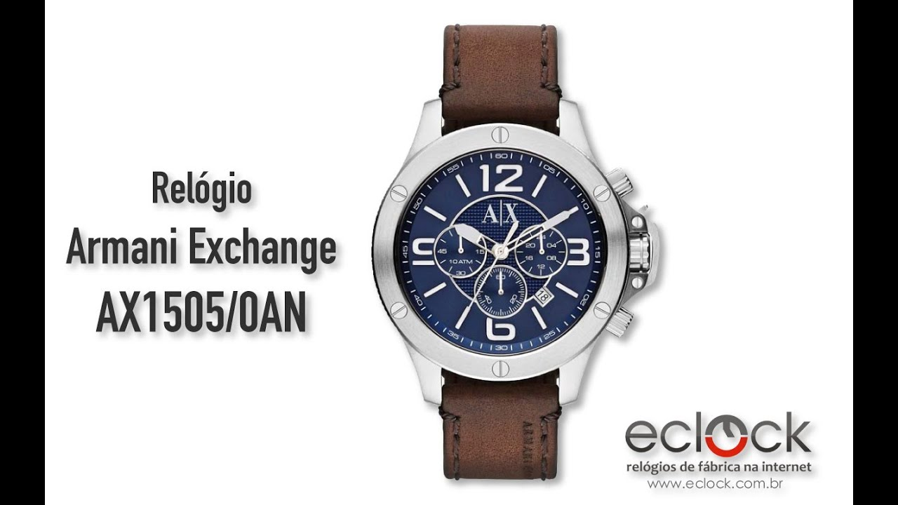 8a58579b2 Relógio Armani Exchange Masculino AX1505/0AN - Eclock by Eclock Relógios