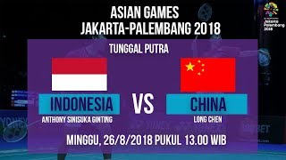 Download Video Jadwal Laga Badminton Tunggal Putra, Indonesia Vs China di Asian Games 2018 MP3 3GP MP4