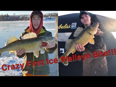 Crazy Early Ice Walleye Fishing!!! (Saskatchewan)