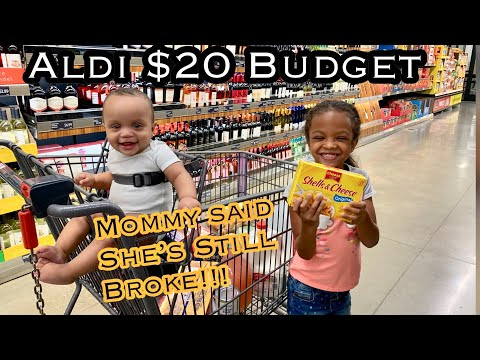 Aldi $20 Budget Grocery Haul | MAMA STILL BROKE! 6/25/19