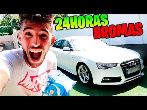 24 HORAS DE BROMAS PESADAS CON CÁMARA OCULTA !! HARINA EN SU NUEVO COCHE !!