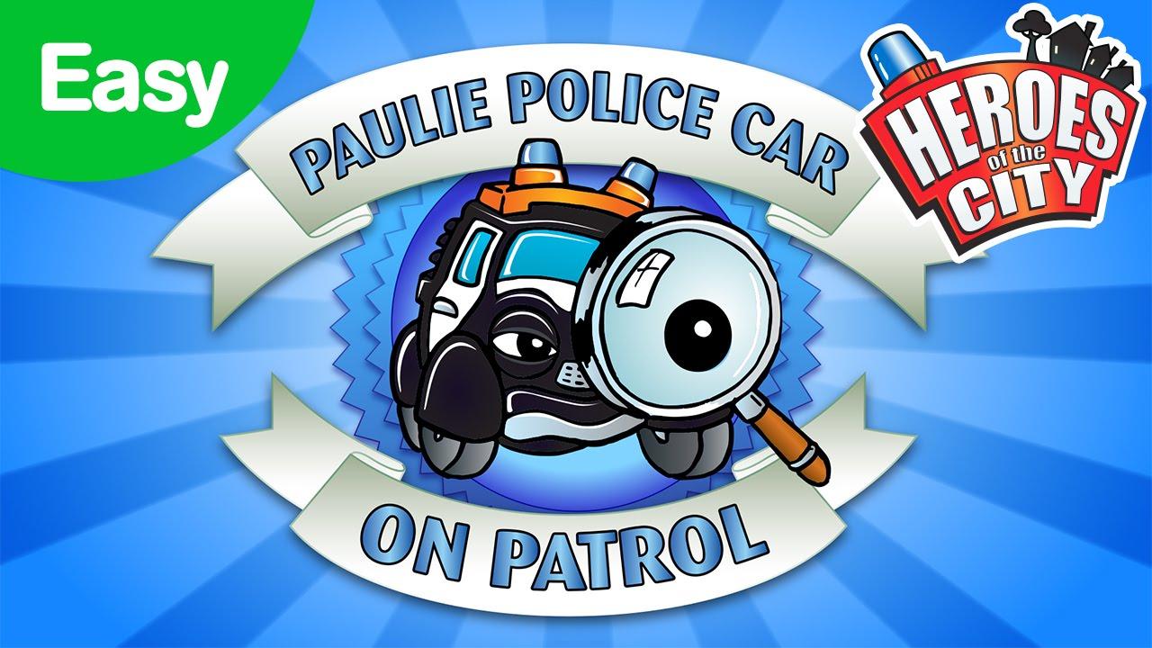 On Patrol with Paulie Police Car - Easy | Car Cartoons | Car Cartoons