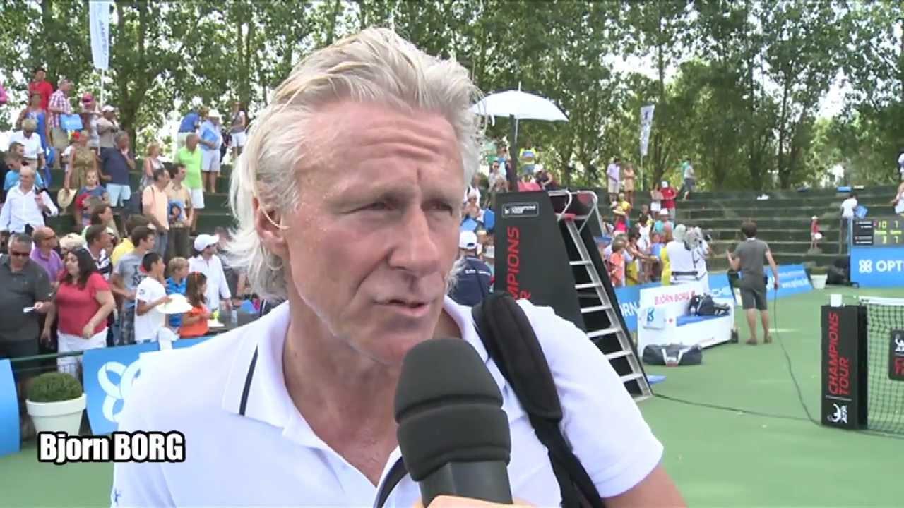 Tennis legends Bjorn Borg and John McEnroe team up for doubles
