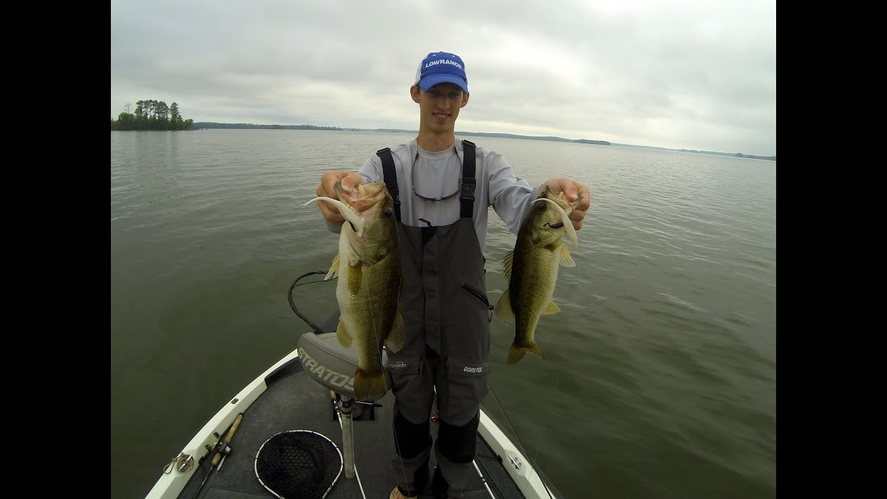 gopro bass fishing clarks hill doubled up youtube