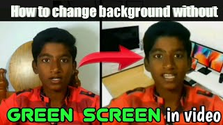 How to change background without green screen in Tamil | after effect tutorial in tamil
