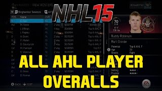 NHL 15 ALL AHL PLAYER OVERALLS & POTENTIALS(Thanks for 5k Subs guys! Next Stop? 6k! Remember to leave a like, comment, favorite, and subscribe for more NHL content! Link to all NHL players: ..., 2014-09-06T18:28:35.000Z)