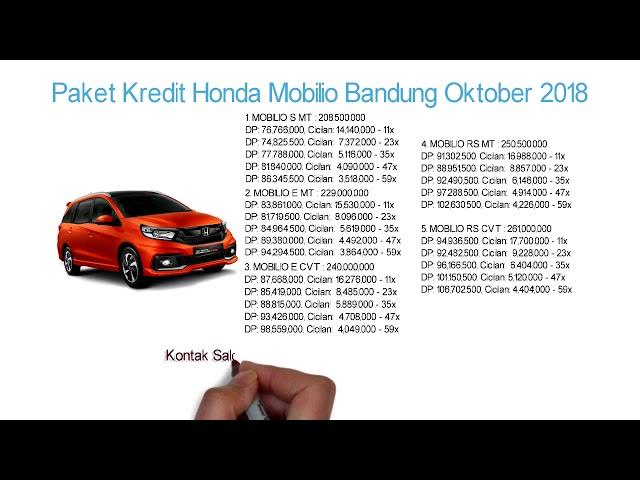 Kredit Honda Mobilio Bandung DP & Cicilan Oktober 2018 | Info: 082221011136