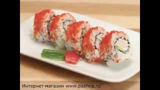 Видеорецепт приготовления роллов Калифорния в домашних условиях с набором Sushi Magic(Видеоинструкция по домашнему приготовлению роллов Калифорния с помощью рольницы из набора Sushi Magic., 2014-09-25T11:13:20.000Z)