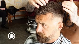 A Classic Hairstyle: The Messy Crew Cut