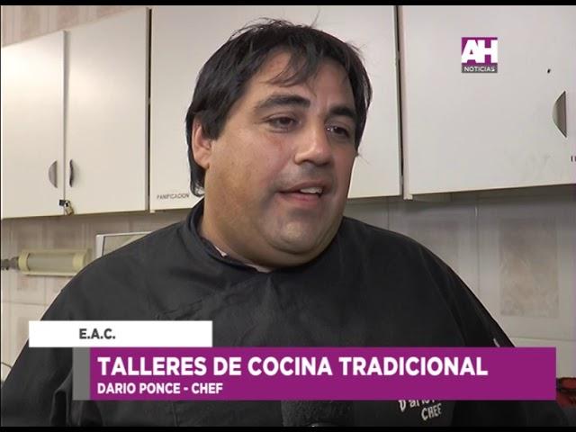 DARIO PONCE   TALLERES DE COCINA TRADICIONAL EN LA EAC