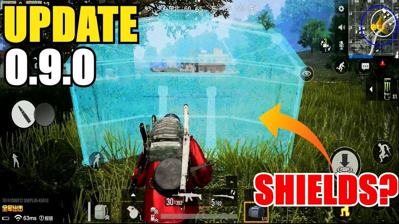 PUBG (Timi Studio) UPDATE 0.9.0 IS OUT! NEW SHIELD