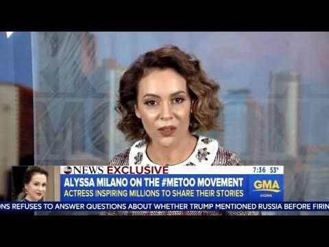 Alyssa Milano Talks About The MeToo Movement  GMA