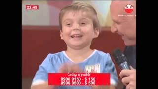 Suárez, Neymar y Messi enviaron su saludo a Mateo, el niño Teletón 2014