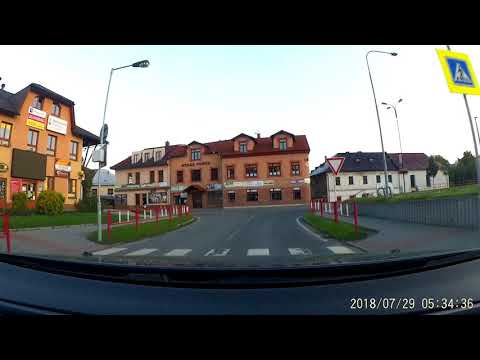 Driving in Czech Republic (from the Polish border to the German) 680km
