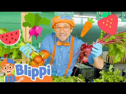 Blippi Learns Healthy Eating For Kids At Tanaka Farm | Educational Videos For Toddlers