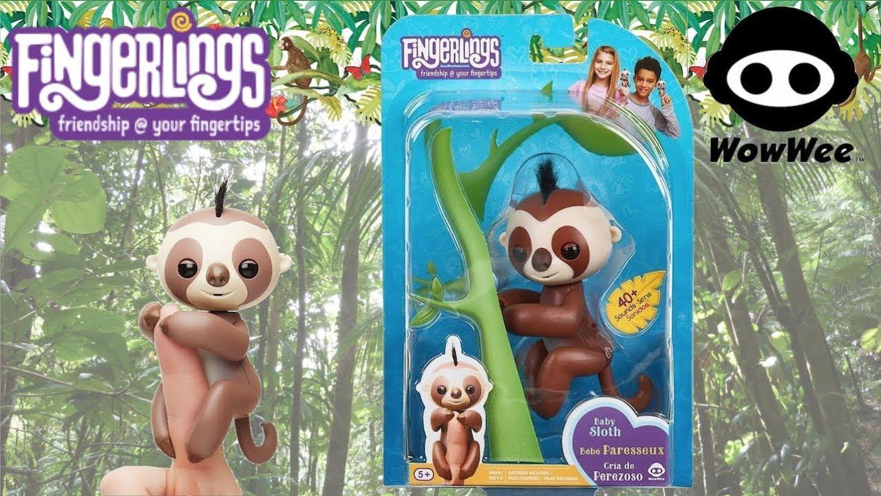 Fingerlings friends @ your finger tips Melody Glitter Baby Sloth Fingerling