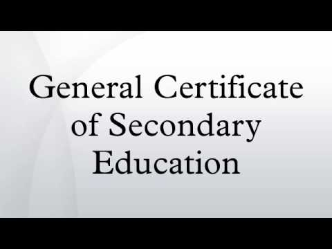 General Certificate of Secondary Education
