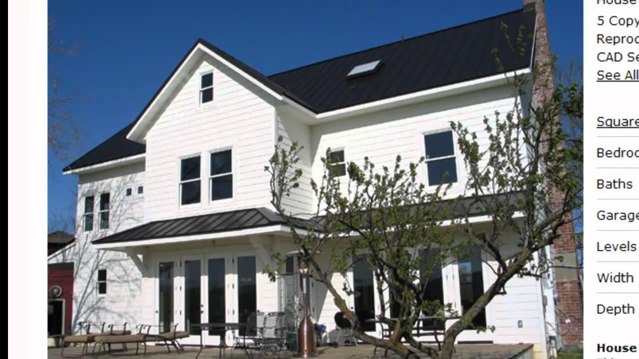 Farmhouse plan 485 1 youtube for Www house plans