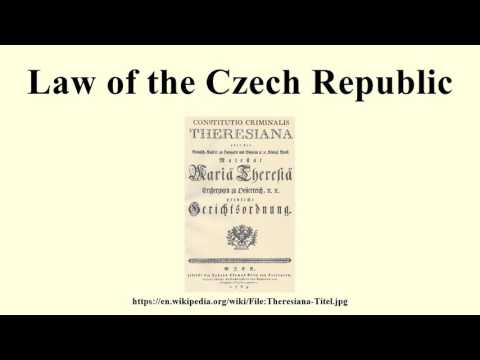 Law of the Czech Republic