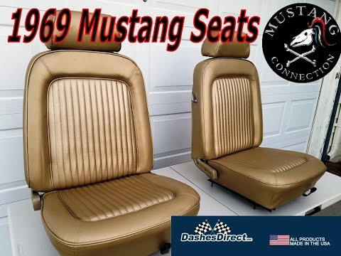 1969 Mustang New Lime Restoration Part 16  Seat Re-upholstery Dashes Direct