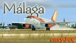 FSX [HD] - easyJet | Airbus A319 | Approach to Málaga