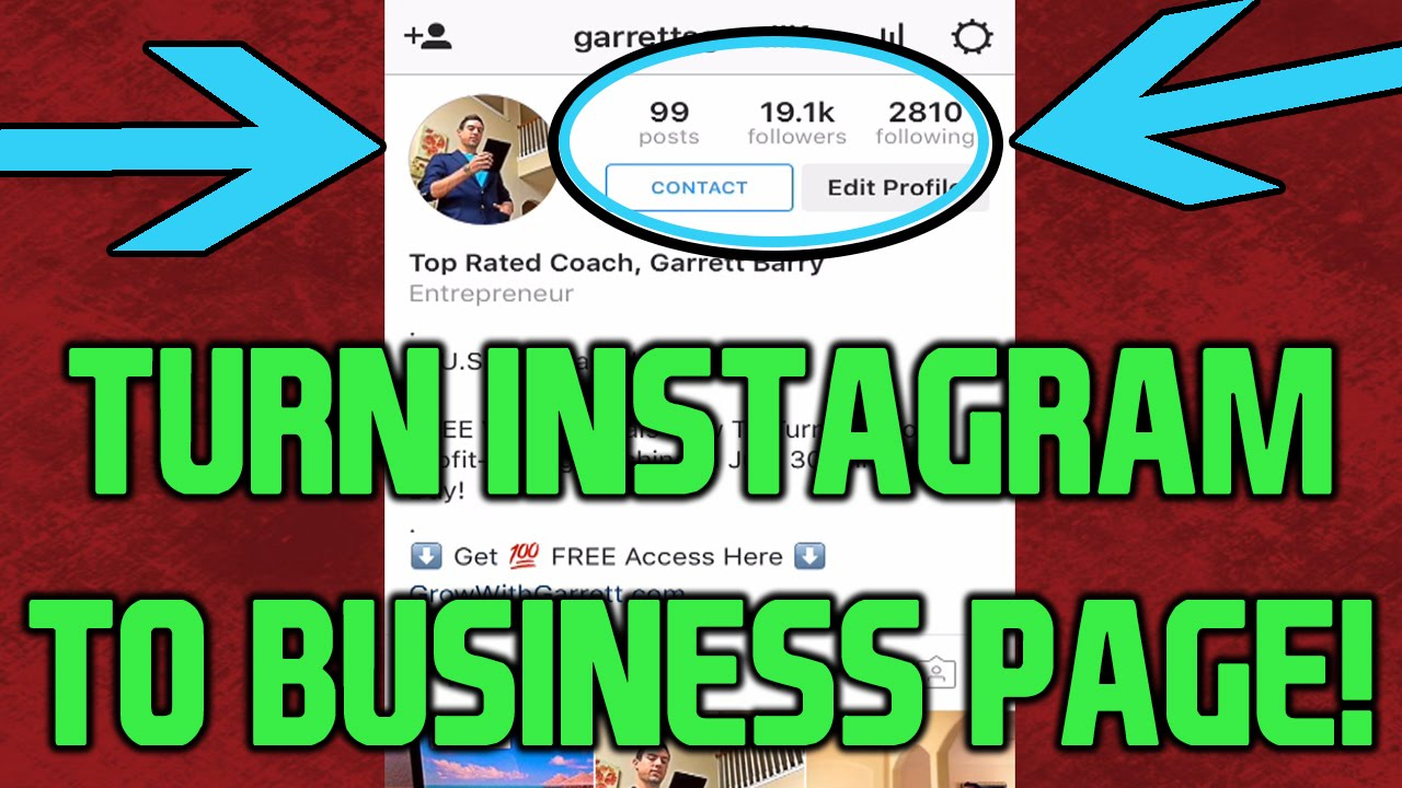 Turn Instagram Into Business Page (fastest Tutorial!) 20161116 How To Delete  The Instagram