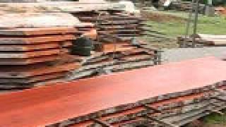Australian Timber Naturally Milling Log Into Timber Slabs