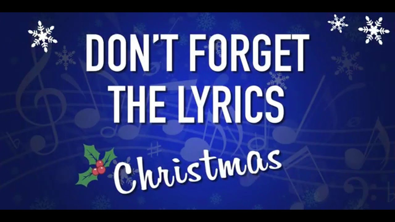 Dont Forget The Lyrics Christmas Keynote Game Template
