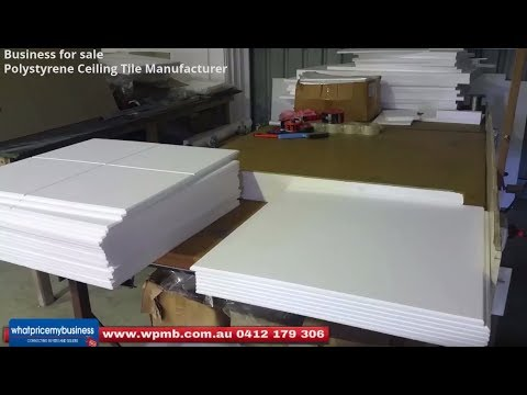 Polystyrene Ceiling Tile Manufacturer Business for Sale $69,900 Plus SAV