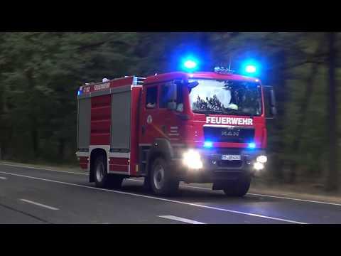 [Treuenbrietzen Waldbrand bei Berlin] Einsatzfahrten zahlreicher HiOrgs