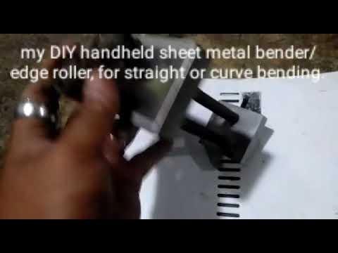DIY handheld sheet metal bender and edge roller for straight anf curve bending.