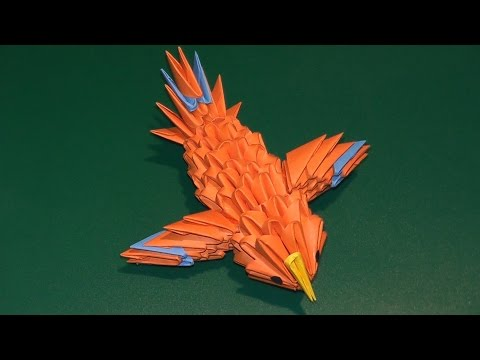МОДУЛЬНОЕ ОРИГАМИ колибри