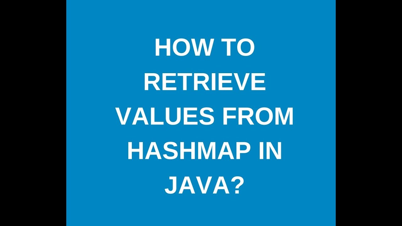 java hashmap get value without key
