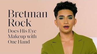 Bretman Rock Slays in a One-Handed Makeup Challenge | ELLE