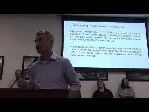 Introduction --Thomas Ingram, Atty, Chemours