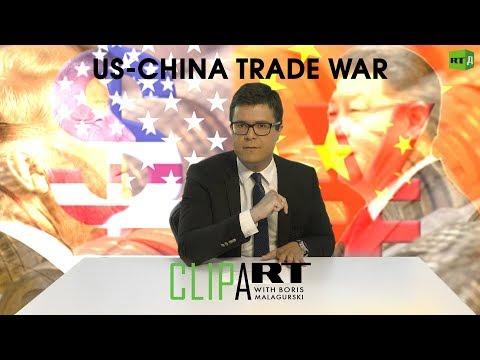 US-China Trade War: Clipart with Boris Malagurski