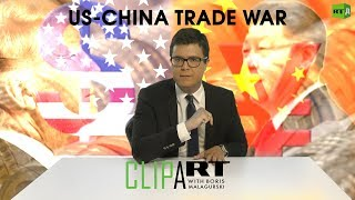 US-China Trade War: Clipart with Boris Malagurski
