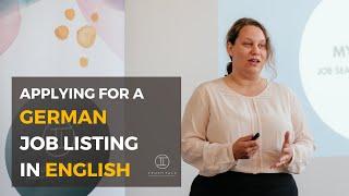 Applying for a Geŗman Job Listing in English | Truth Talk Berlin