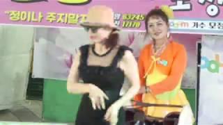 모정애 가수공연중, 미녀분 디스코 댄스  라이브공연단 시흥 능곡동 거리축제공연 190616