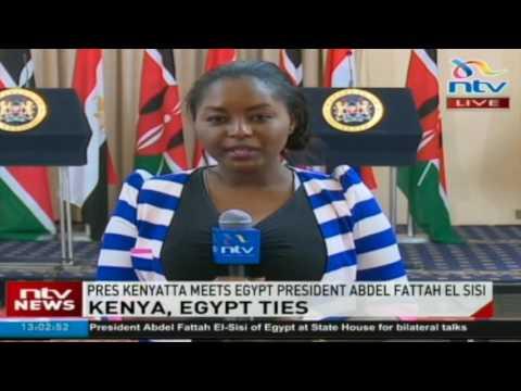 President Uhuru Kenyatta meets Egypt's President Abdel Fatah el-Sisi
