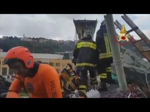 Las desoladoras imágenes de la tragedia de Génova