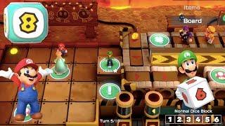 Super Mario Party - Gold Rush Mine (Mario/Luigi vs Wario/Waluigi) | MarioGamers